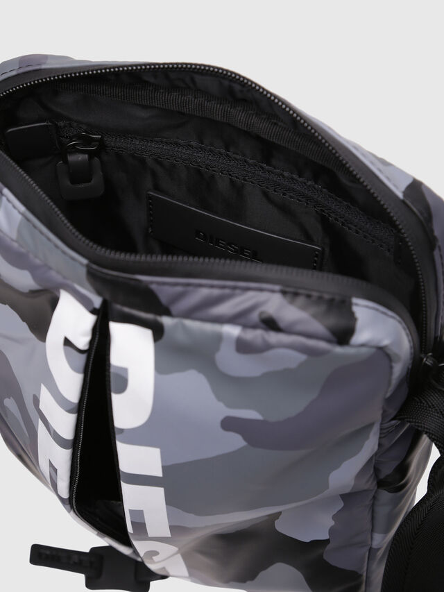 Diesel - F-BOLD SMALL CROSS, Grey - Crossbody Bags - Image 4