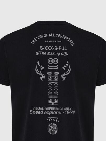 Diesel - T-DIEBIND, Black - T-Shirts - Image 4