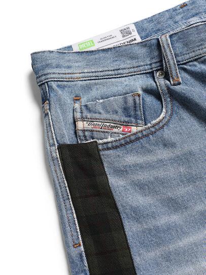 Diesel - D-DEEPCHECKDENIM, Light Blue - Pants - Image 3