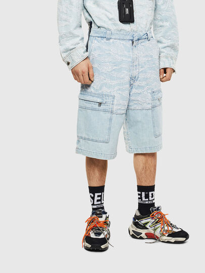 Diesel - D-LUK-SHORT, Light Blue - Shorts - Image 1