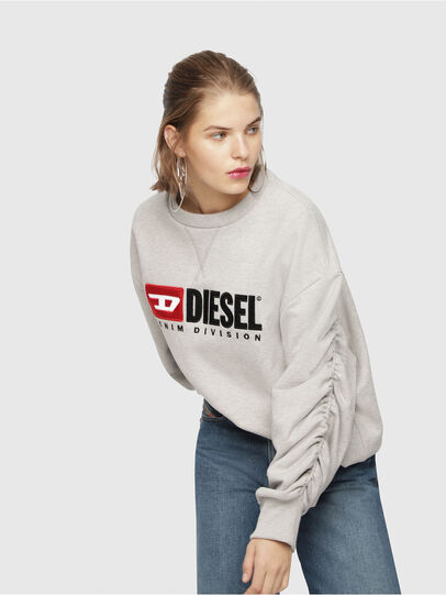 Diesel - F-ARAP, Light Grey - Sweaters - Image 4