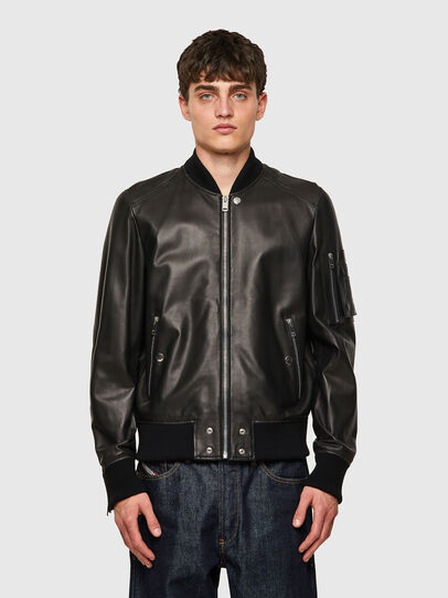 Diesel - L-ABBOTT, Black - Leather jackets - Image 1