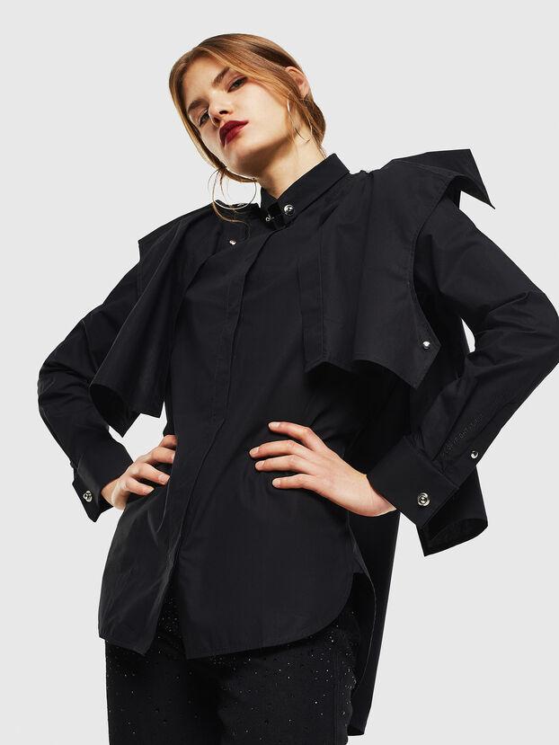 C-RAILY-SHAPED, Black - Shirts