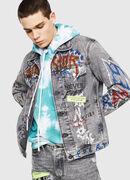 DXF-NHILL, Light Grey - Denim Jackets