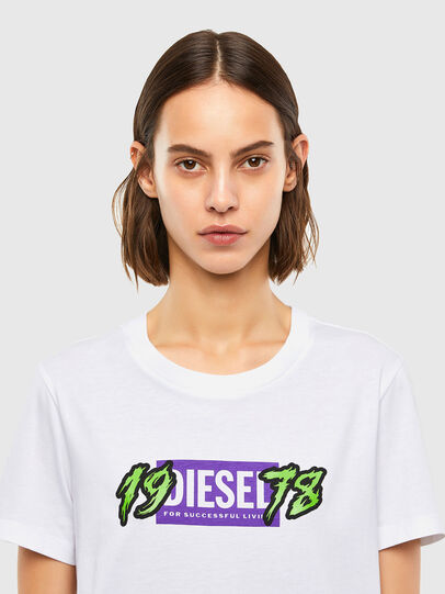 Diesel - T-SILY-K4, White - T-Shirts - Image 3