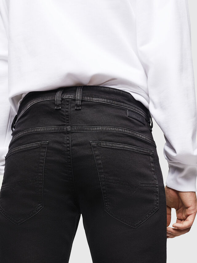 Diesel - Thommer JoggJeans 0687Z, Black/Dark grey - Jeans - Image 4