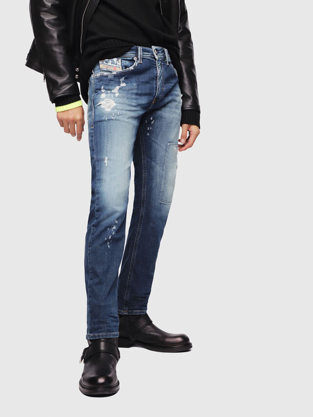 Diesel - Thommer JoggJeans 087AK, Dark Blue - Jeans - Image 1
