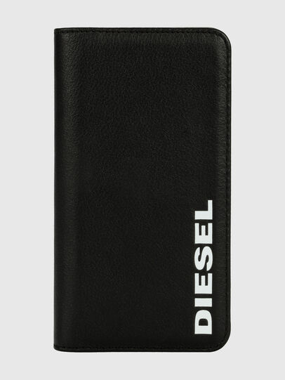 Diesel - DIESEL 2-IN-1 FOLIO CASE FOR IPHONE XR, Black/White - Flip covers - Image 1