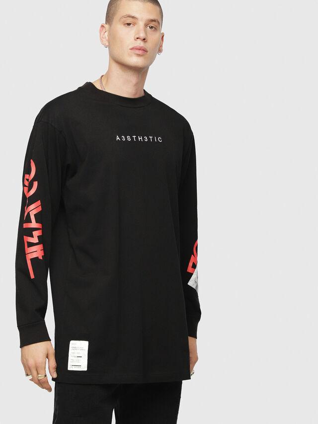 Diesel - T-LUCAS-LS-YB, Black - T-Shirts - Image 1
