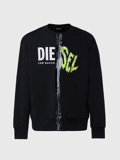 Diesel - S-BIAY-SPLIT, Black - Sweaters - Image 1