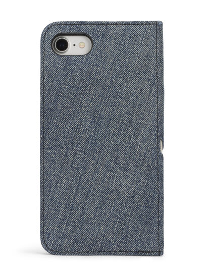 Diesel - DENIM IPHONE 8 PLUS/7 PLUS FOLIO, Blue Jeans - Flip covers - Image 5