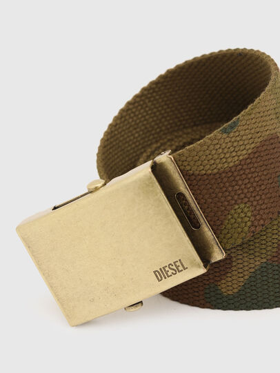 Diesel - B-COMBA, Green Camouflage - Belts - Image 2