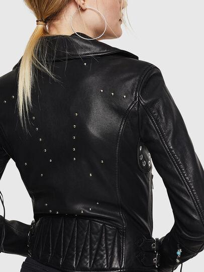 Diesel - L-SINYA-A, Black - Leather jackets - Image 2