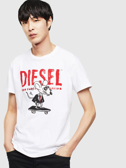 Diesel - CL-T-DIEGO-1, White - T-Shirts - Image 1