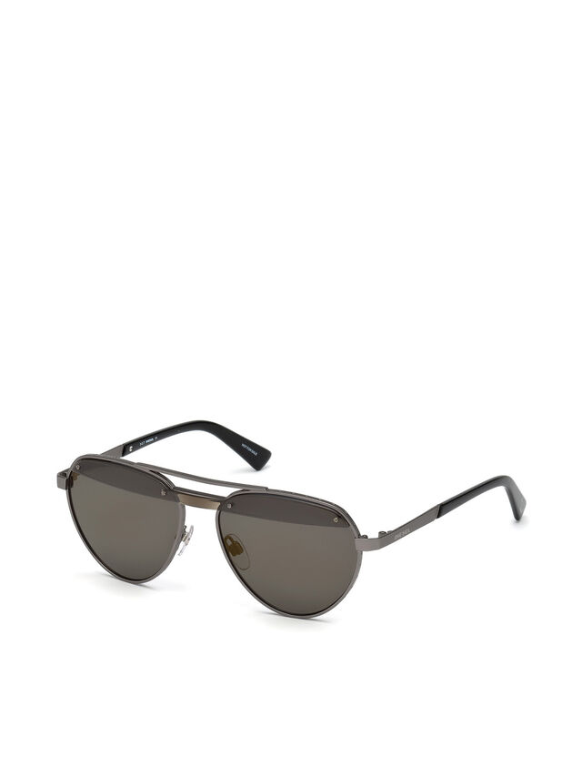 Diesel - DL0261, Black/Grey - Sunglasses - Image 2