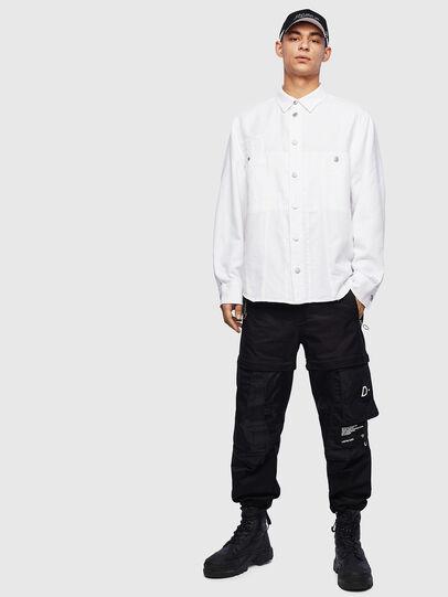 Diesel - D-FLOX, White - Denim Shirts - Image 6