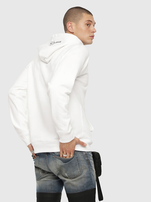 Diesel - S-GIM-HOOD-A, White - Sweaters - Image 2