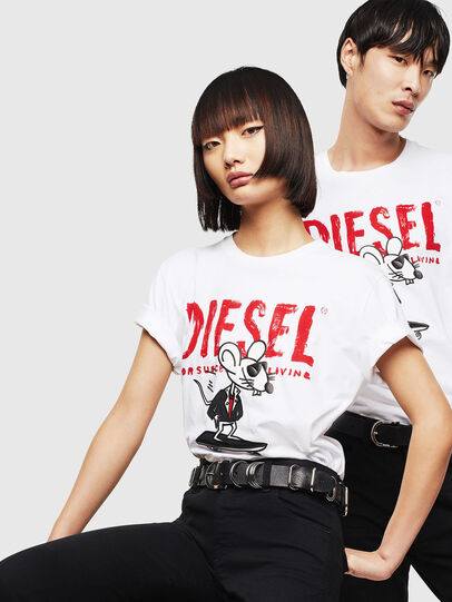 Diesel - CL-T-DIEGO-1, White - T-Shirts - Image 5
