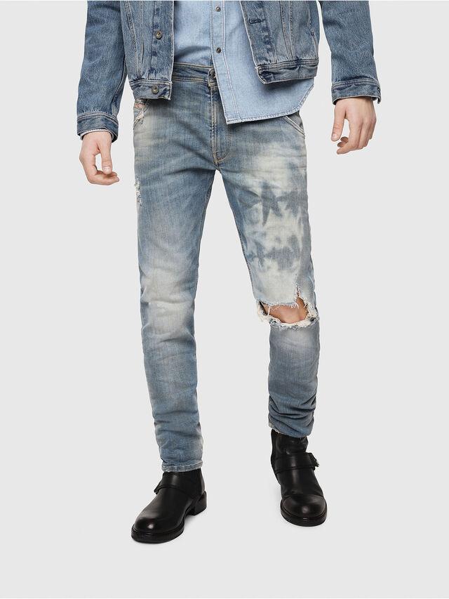 Diesel - Krooley JoggJeans 087AE, Light Blue - Jeans - Image 1