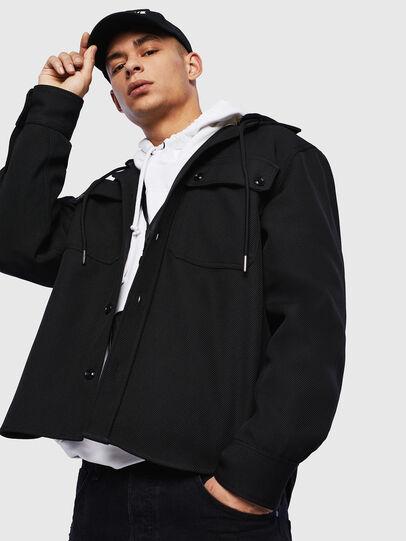 Diesel - J-JESSY-HOOD, Black - Jackets - Image 4