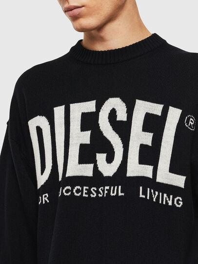 Diesel - K-LOGOS, Black - Knitwear - Image 5