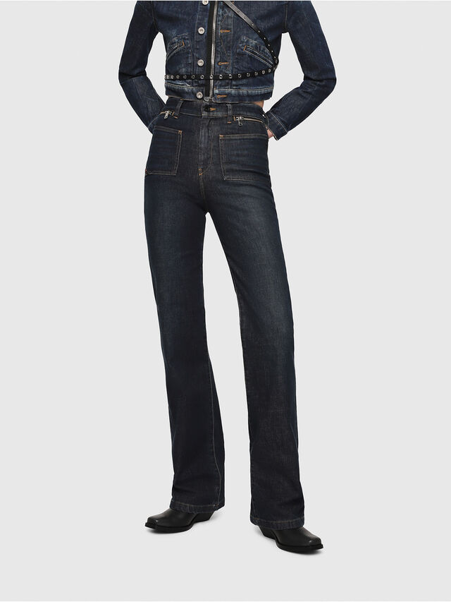Diesel - D-Pending 080AK, Dark Blue - Jeans - Image 1