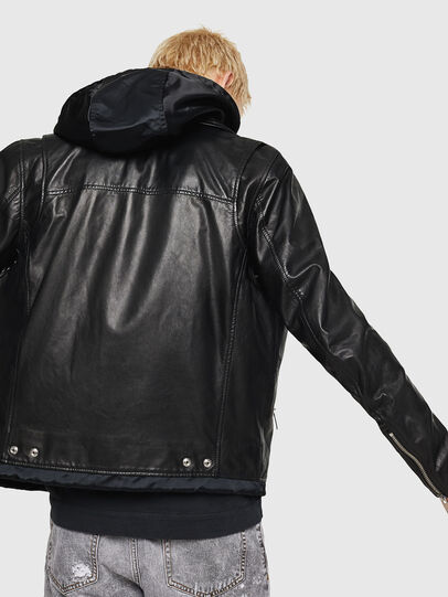 Diesel - L-SOLOVE, Black - Leather jackets - Image 2