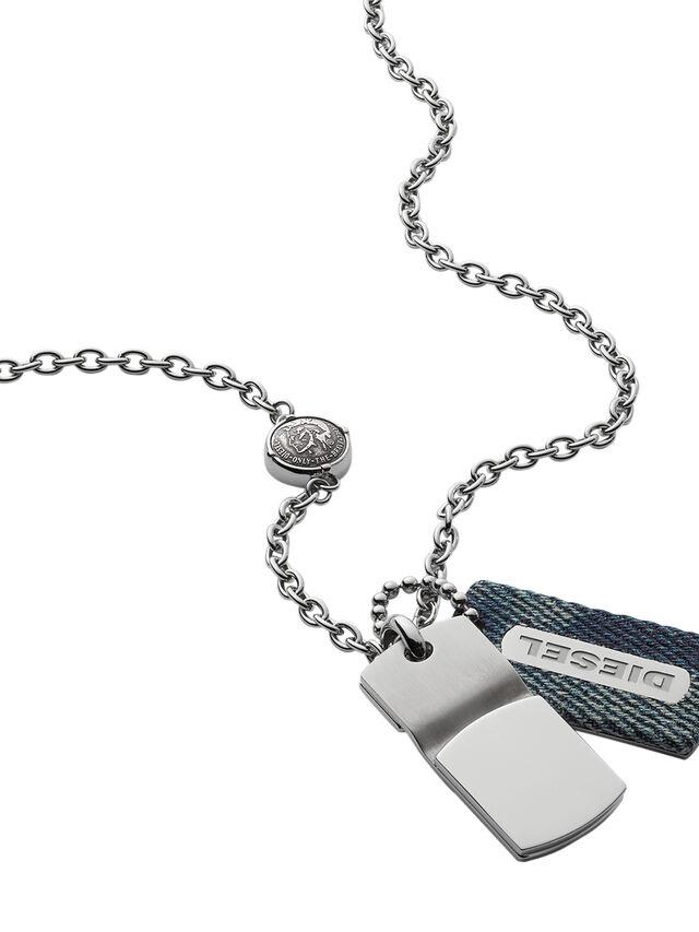 Diesel NECKLACE DX0980, Blue Jeans - Necklaces - Image 2