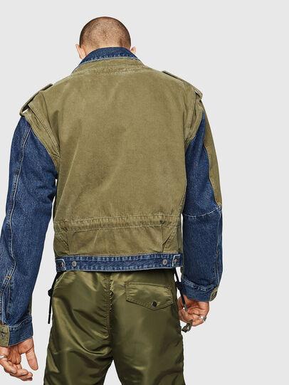 Diesel - D-MALLY, Blue/Green - Denim Jackets - Image 2