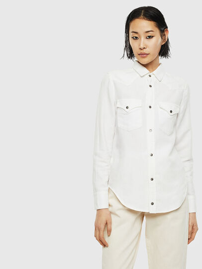 Diesel - DE-RINGY, White - Denim Shirts - Image 1