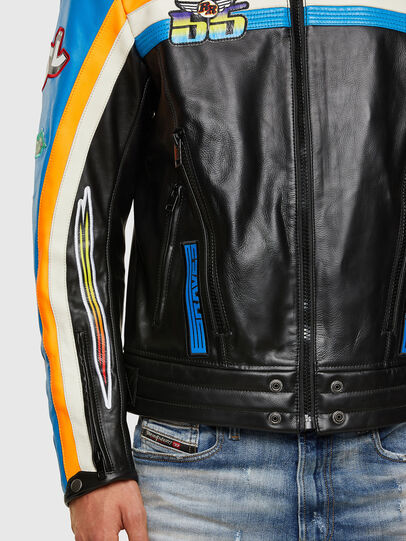Diesel - ASTARS-LPATCH-1A-B, Black - Leather jackets - Image 3