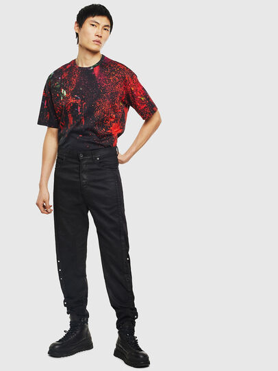Diesel - TEORIALE-D, Black/Red - T-Shirts - Image 6