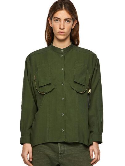 Diesel - C-EILEEN, Olive Green - Shirts - Image 1