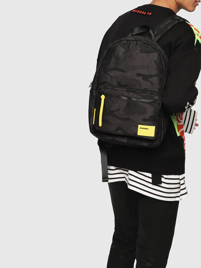 Diesel - F-DISCOVER BACK, Black/Yellow - Backpacks - Image 6