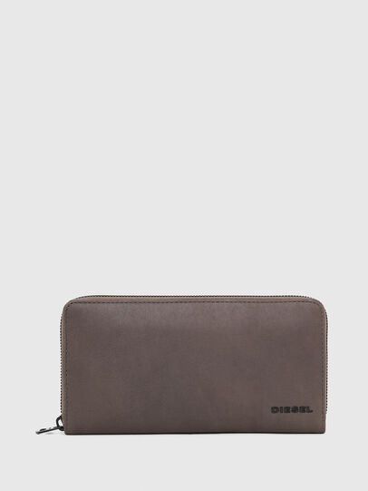 Diesel - 24 ZIP, Dark grey - Zip-Round Wallets - Image 1