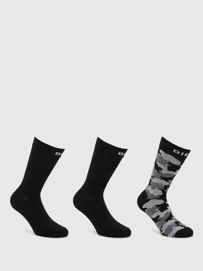 Diesel - SKM-RAY-THREEPACK, Black/Grey - Socks - Image 1
