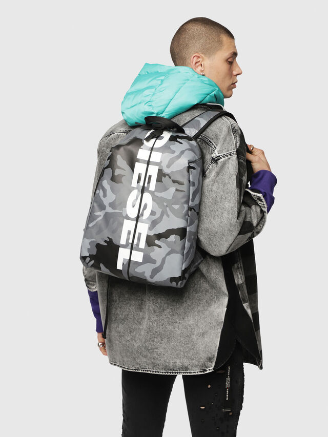 Diesel - F-BOLD BACK, Grey - Backpacks - Image 5