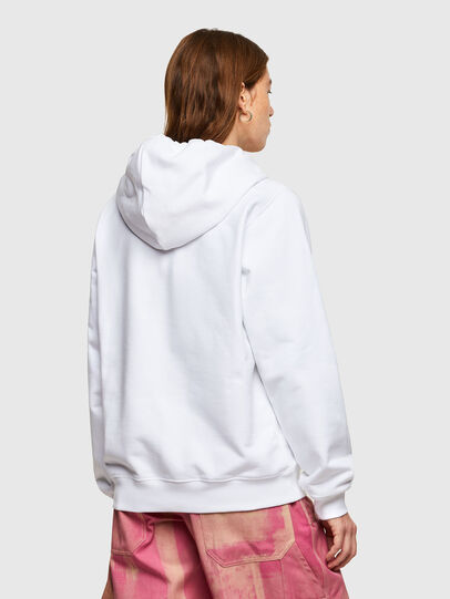 Diesel - F-ANG-HOOD-SMALLOGO, White - Sweaters - Image 2