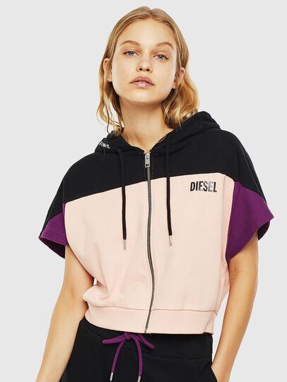 Diesel - UFLT-PHYLOSH-HOOD, Black/Pink - Sweaters - Image 1