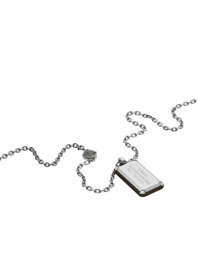 Diesel - NECKLACE DX1019, Silver - Necklaces - Image 2