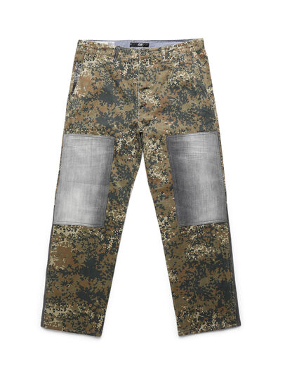 Diesel - D-ONT-HURT-ME, Green Camouflage - Pants - Image 1