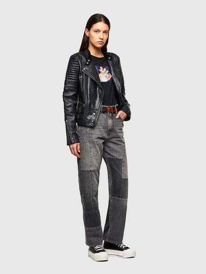 Diesel - L-IGE-NEW-A, Black - Leather jackets - Image 6