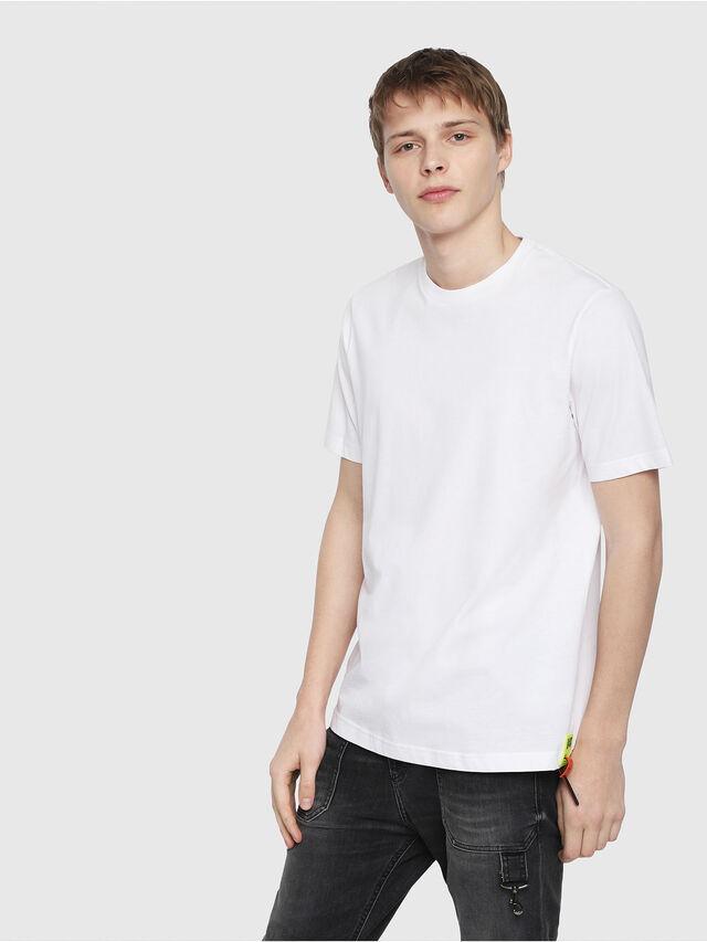 Diesel - T-JUST-Y-TRIMS, White - T-Shirts - Image 1