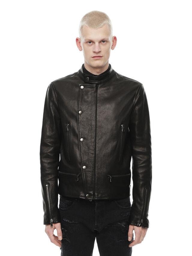 037a14fe4 LAZING Men: Biker jacket in nappa leather | Diesel