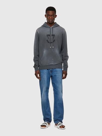 Diesel - S-GIRK-HOOD-B5, Dark grey - Sweaters - Image 4