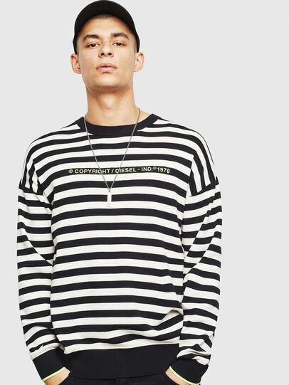 Diesel - K-SLASSH, Black/White - Knitwear - Image 1