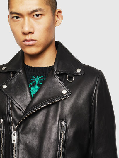 Diesel - L-GOTIV, Black - Leather jackets - Image 5