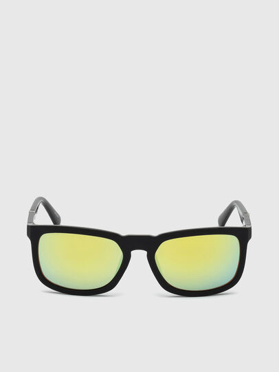 Diesel - DL0262, Black/Green - Sunglasses - Image 1