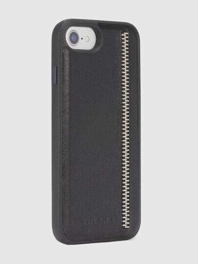 Diesel - ZIP BLACK LEATHER IPHONE 8/7/6s/6 CASE, Black - Cases - Image 5