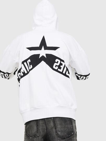 Diesel - S-ALBY-ZIP-A1, White/Black - Sweaters - Image 2